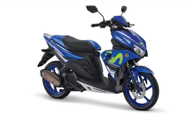 Yamaha Aerox Livery Movistar
